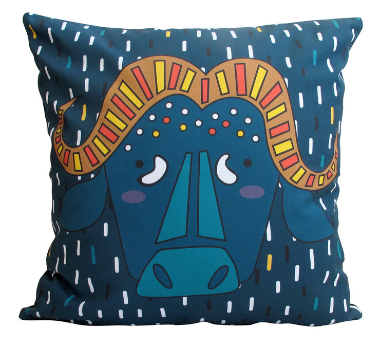 Big 5 BUFFALO Cushion Cover by handmade by me