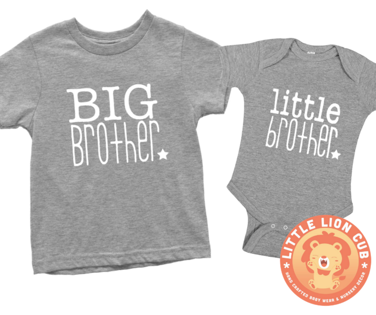 44dbf529 BIG Brother Little Brother Combo Set/BABY ANNOUNCEMENT/PREGNANCY REVEAL /  Matching brother set