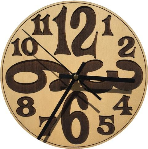 unXusa WallArt Wall Clock BIG Numbers by WEC Industries