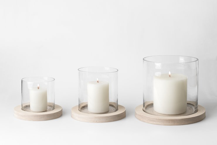 Birch Hurricane Candle - Small by Native Decor