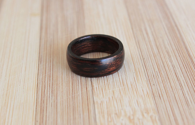Black and brown Sapele- Wooden ring by Oh my woodness