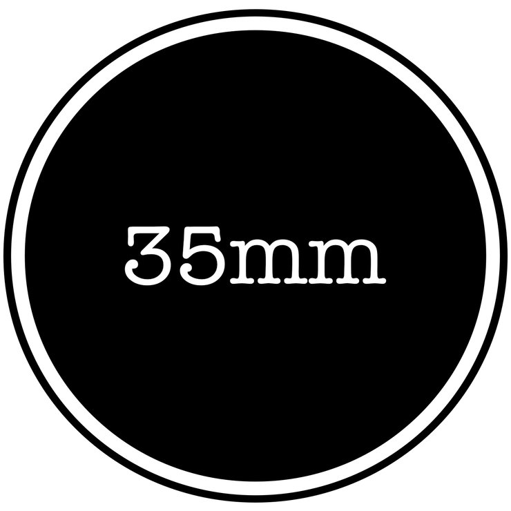 35mm Vinyl Sticker by Lens Tag
