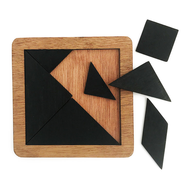 Wooden Tangram Puzzle - Black by Nice gifts
