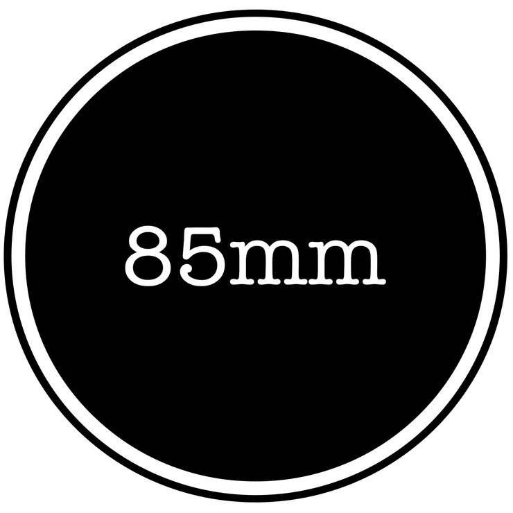 85mm vinyl sticker by Lens Tag