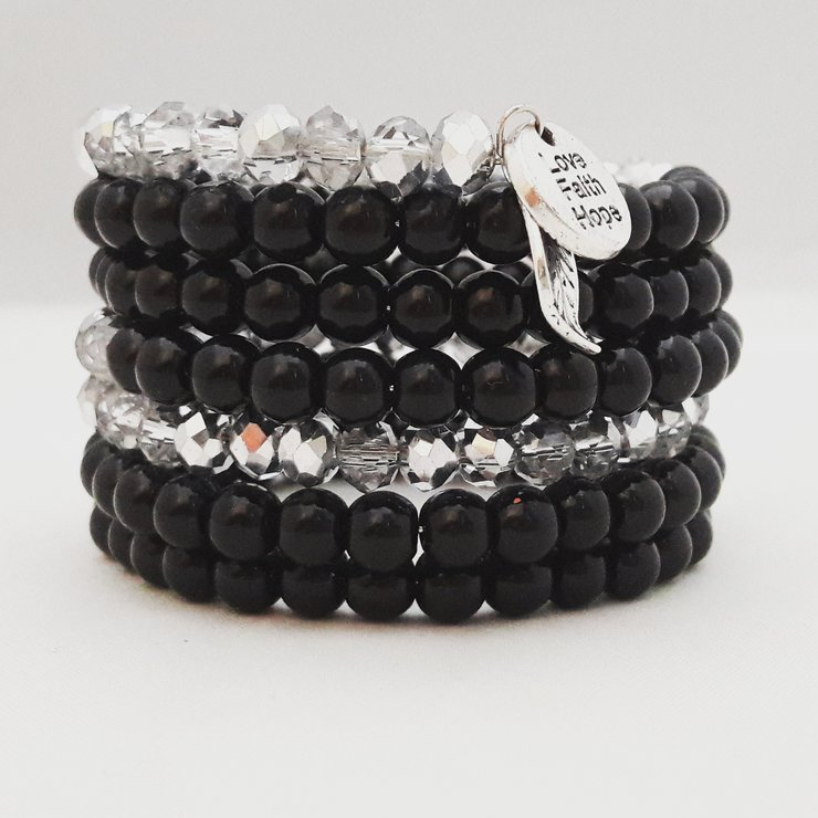 Black and Silver Wire Bracelet by StyLash Accessories