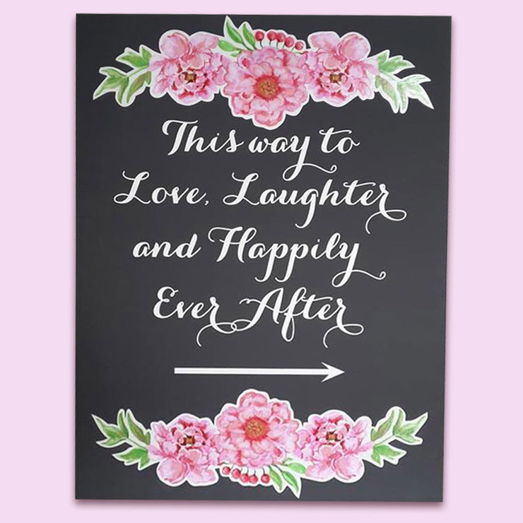 Wedding Happily Ever After Sign by Polkadot Box
