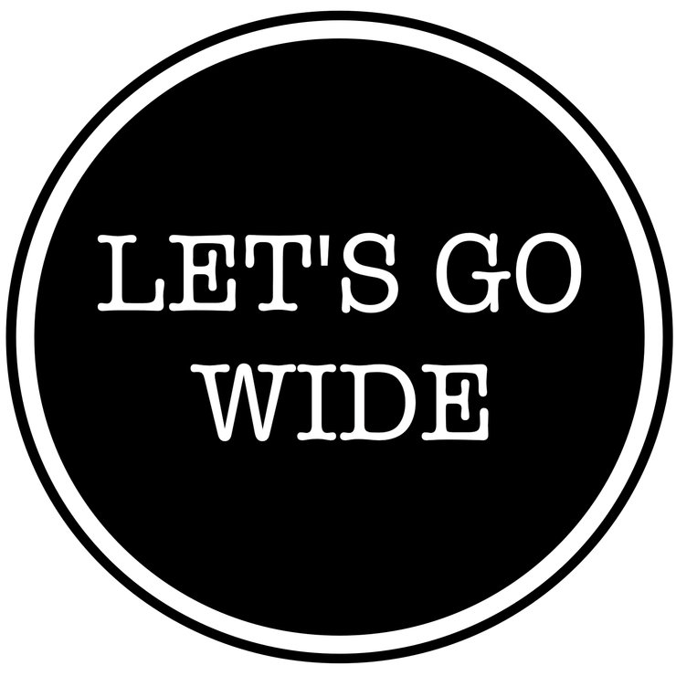 Let's Go Wide vinyl sticker by Lens Tag