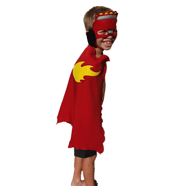 Blaze (blaze and the monster machines) cape and mask by Going Dutch In Sa