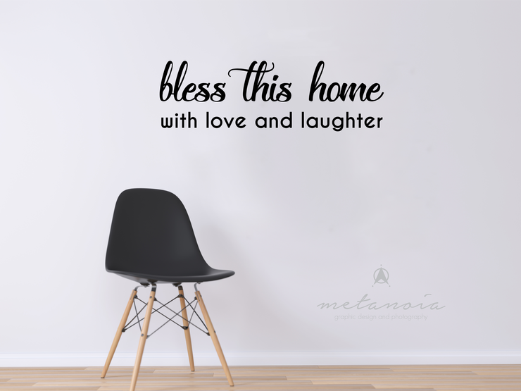Bless this home - Vinyl Decal by Metanoia Graphic Design