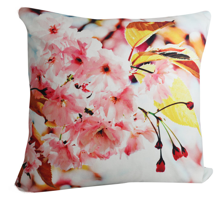Cherry blossom  cushion cover by Beyond Photography