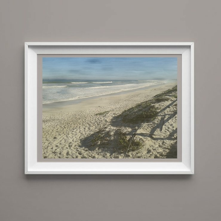 Beach Walk - Printable Seascape Art Print Digital Image by  ImPrintable | Art