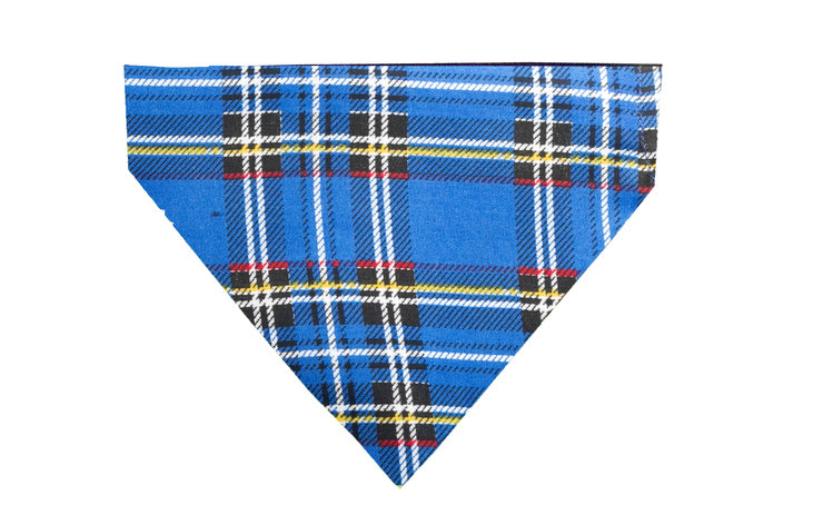 Blue Flannel Bandana - Large by Bacon Apparel