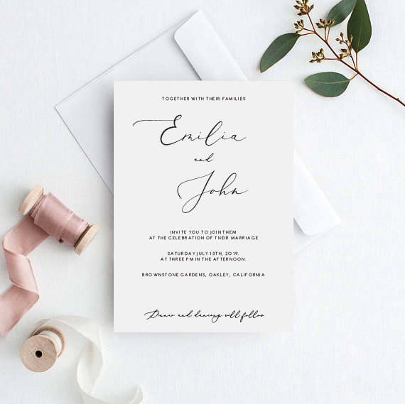 photograph regarding Wedding Cards Printable identify Stylish Marriage Invitation Template Exquisite Cly Wedding ceremony Invitation Printable Edit Phrases and Hues Your self Calligraphy Font Wedding ceremony