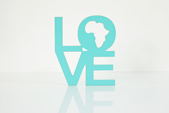 wooden words - love africa by Bokke & Blomme