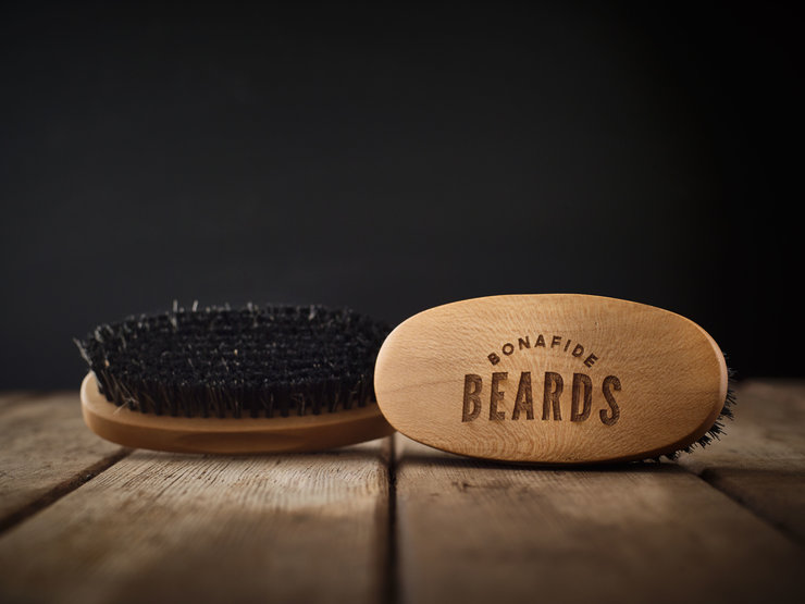 Boar Bristle Beard Brush by Bonafide Beards