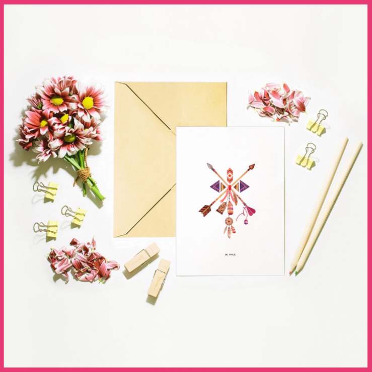 Boho Set of 6 Occasional Note Cards by The Art of Creativity Studio