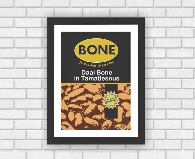 Wall Art Graphic Poster Modern Art Afrikaans Food Beans South African  by Owling South Africa