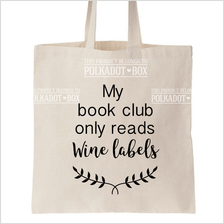 Book club tote Bag by Polkadot Box
