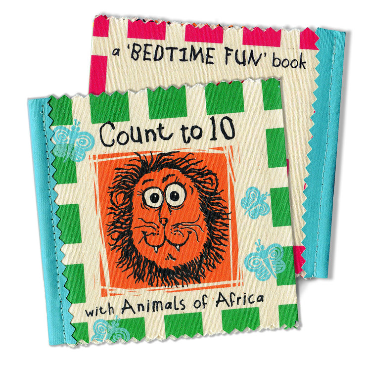 'Count to 10' Kiddies  Cloth Booklet by The Natural Hand
