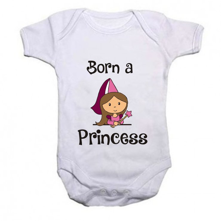 Born a princess baby grow by Qtees Africa (Pty)Ltd