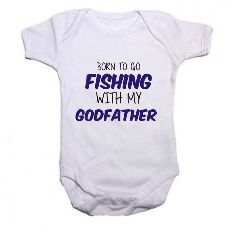 Born to go fishing with my Godfather by Qtees Africa (Pty)Ltd
