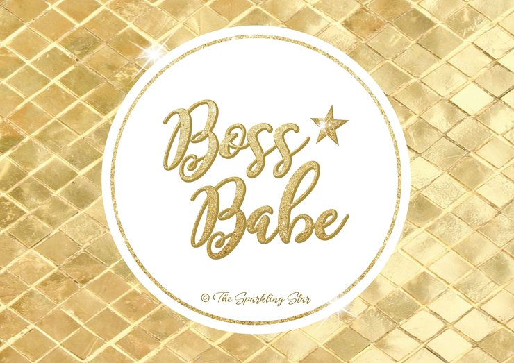 Boss Babe Chic Wall Art by The Sparkling Star