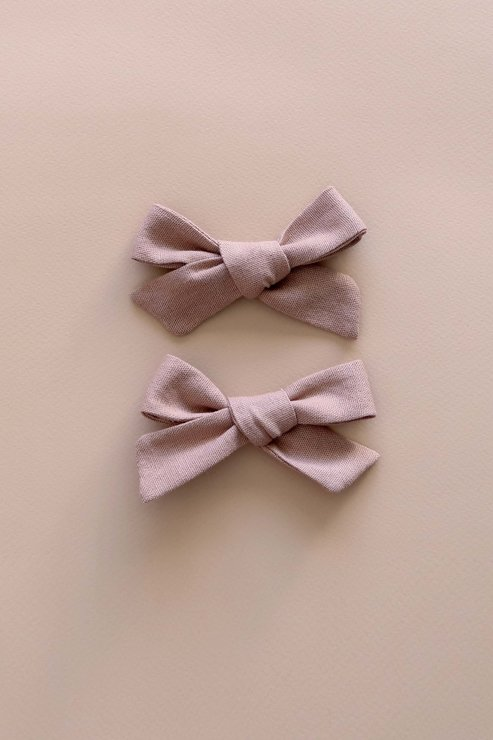 LINEN HAIR BOWS (SET OF 2) by Willow and Wolfe