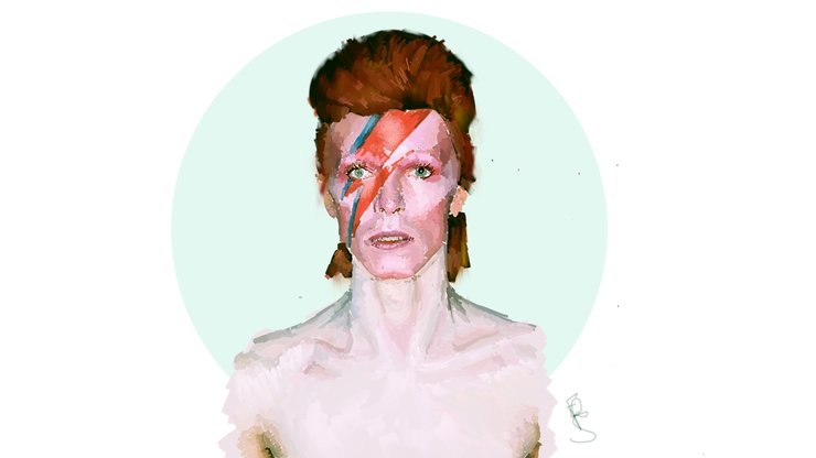 David Bowie Print by SweerinArt