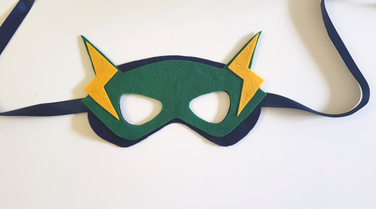 Flash Superhero Mask by Lexi Loves Bows