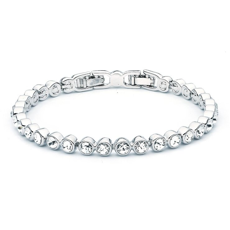 Civetta Spark tennis bracelet - Made with Clear Swarovski crystal by Civetta Spark