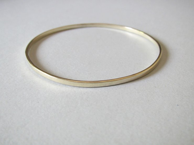 Brass 3mm Bangle by Liwo Design