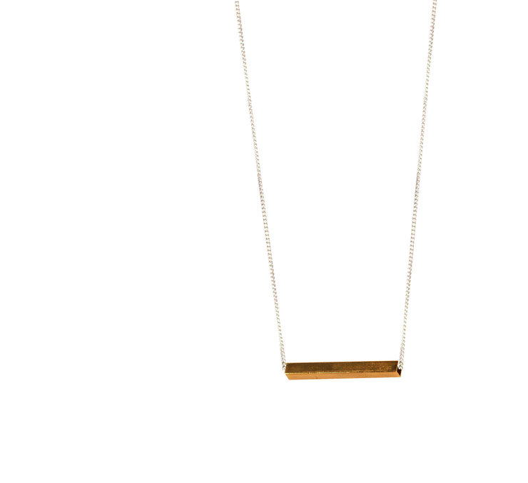 Brass bar necklace  by Meraki Jewellery Design