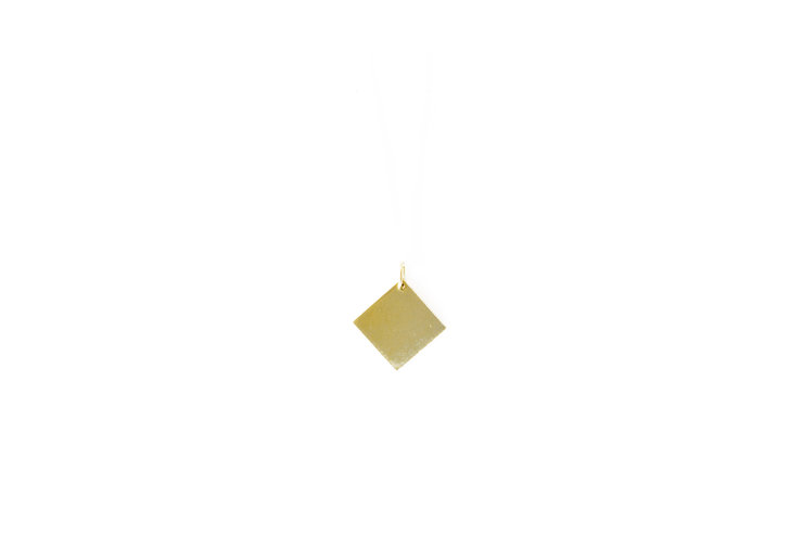 Brass Geo Pendant - Square by SMITH Jewellery