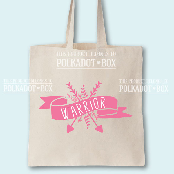 Warrior Tote Bag by Polkadot Box