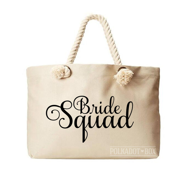 Bride Squad Beach Bag  by Polkadot Box