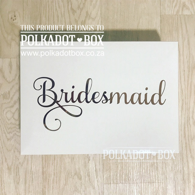 Bridesmaid cardboard gift box  by Polkadot Box