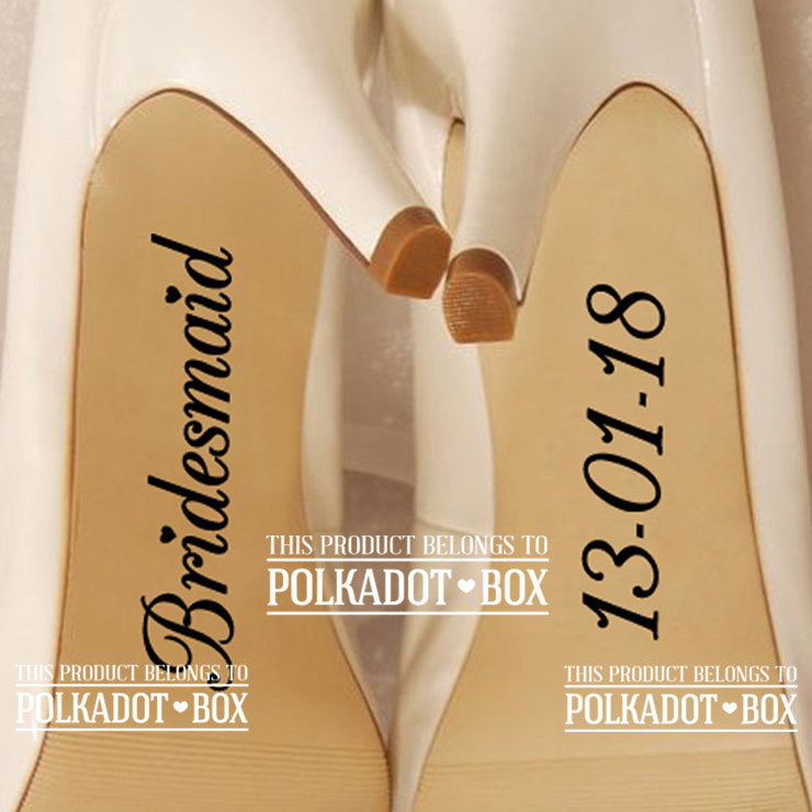 Wedding Shoe Vinyl (shoe sticker for weddings) by Polkadot Box
