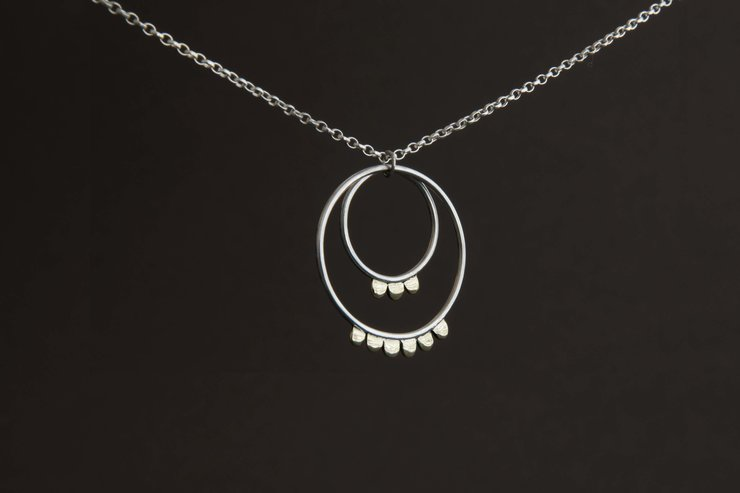 Loops and Hoops Sterling Silver Necklace by Chongo and Wells Silver