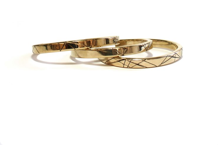Brothers in Arms bangle by Meraki Jewellery Design