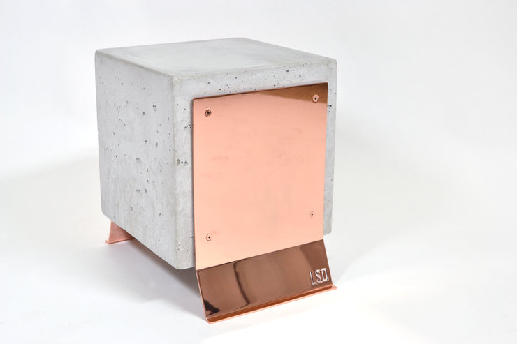 Brut Side Table - Copper Legs by Leg Studios