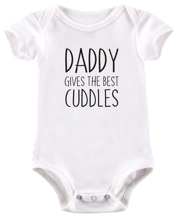 Daddy gives the best cuddles baby grow by BTSN Design (Pty)LTD
