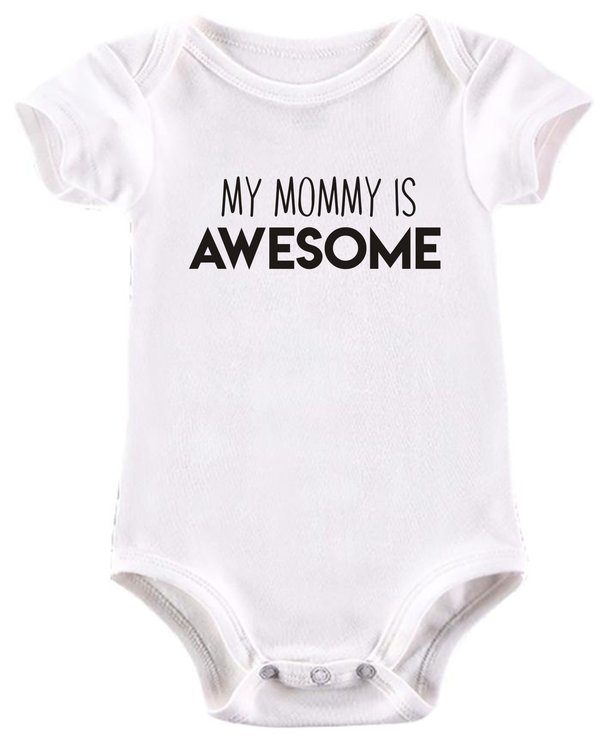 My Mommy is awesome baby grow by BTSN Design (Pty)LTD