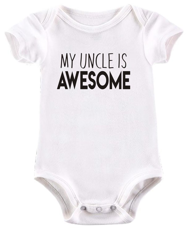 My Uncle is Awesome baby grow by BTSN Design (Pty)LTD