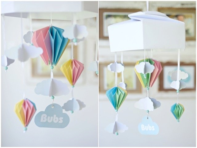 Bubs For Babes Origami Baby Nursery Mobile Hello Pretty Buy Design