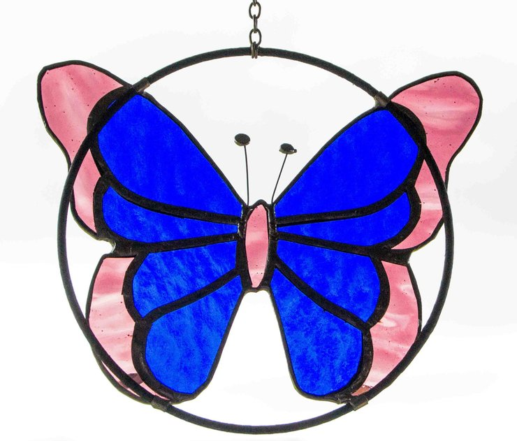 Large Butterfly Sun Catcher by Glass Cuttings