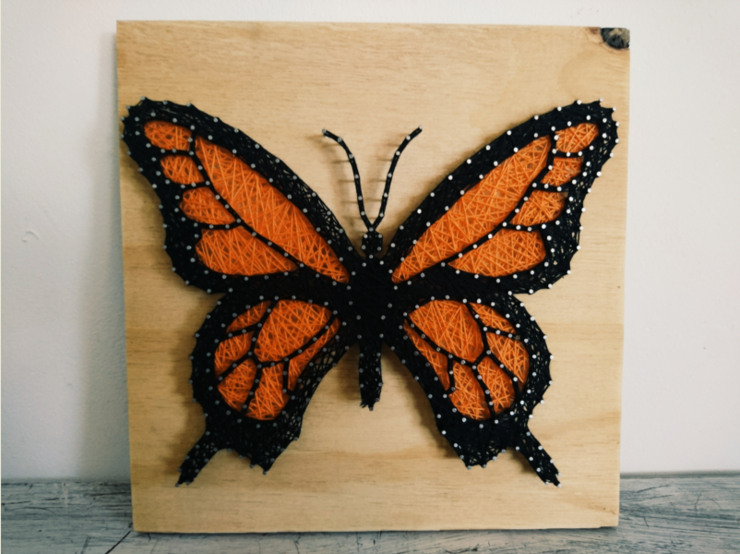 Butterfly String Art by Strung