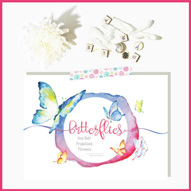 Butterfly Watercolour Set of 2 Note Cards and 2 Prints by The Art of Creativity Studio