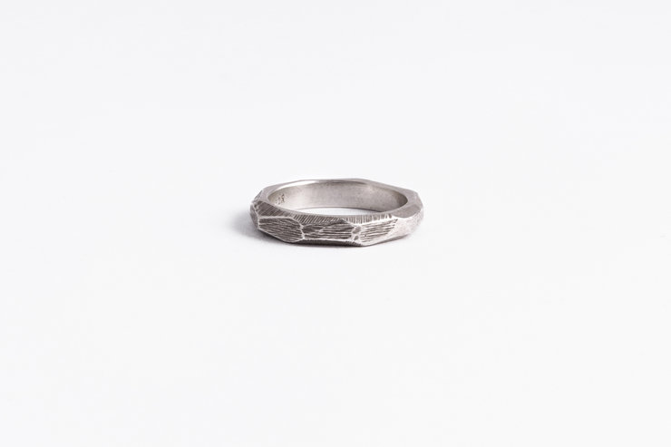 Irregular facets - Sterling Silver ring  / COMME UN POISSON DANS L'EAU by Morgane & The Queen