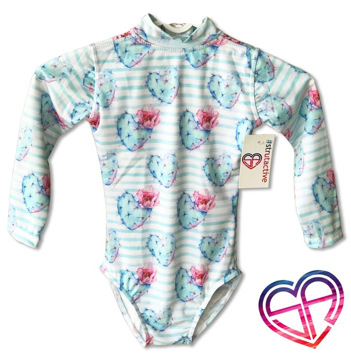 Cactus Heart Long Sleeve 3-5 years by Strut Active