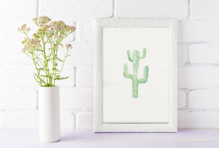 Printable Wall Art - Cactus Watercolour Illustration by Grace On Paper
